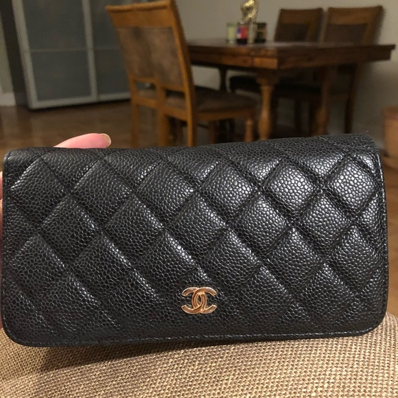 9fe03a4682c2 CHANEL Bags | Wallet Caviar Leather Authentic | Poshmark